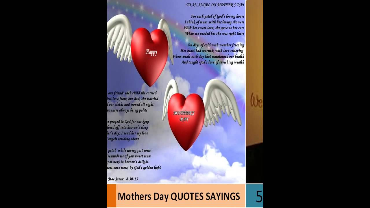 Mothers Day Quotes Sayings For Mom Youtube