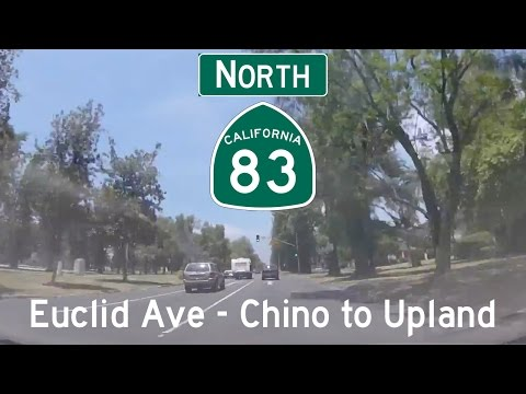 CA 83 North - Euclid Ave - Chino to Upland (Full Route)