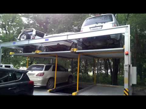 В Хабаровске начала работу первая механическая парковка