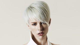 Женская градуированная стрижка на короткие волосы
