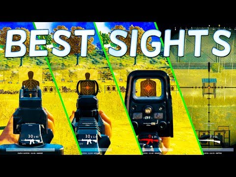 PLAYER Unknown's BATTLEGROUNDS SIGHTS - The BEST SCOPES in BATTLEGROUNDS