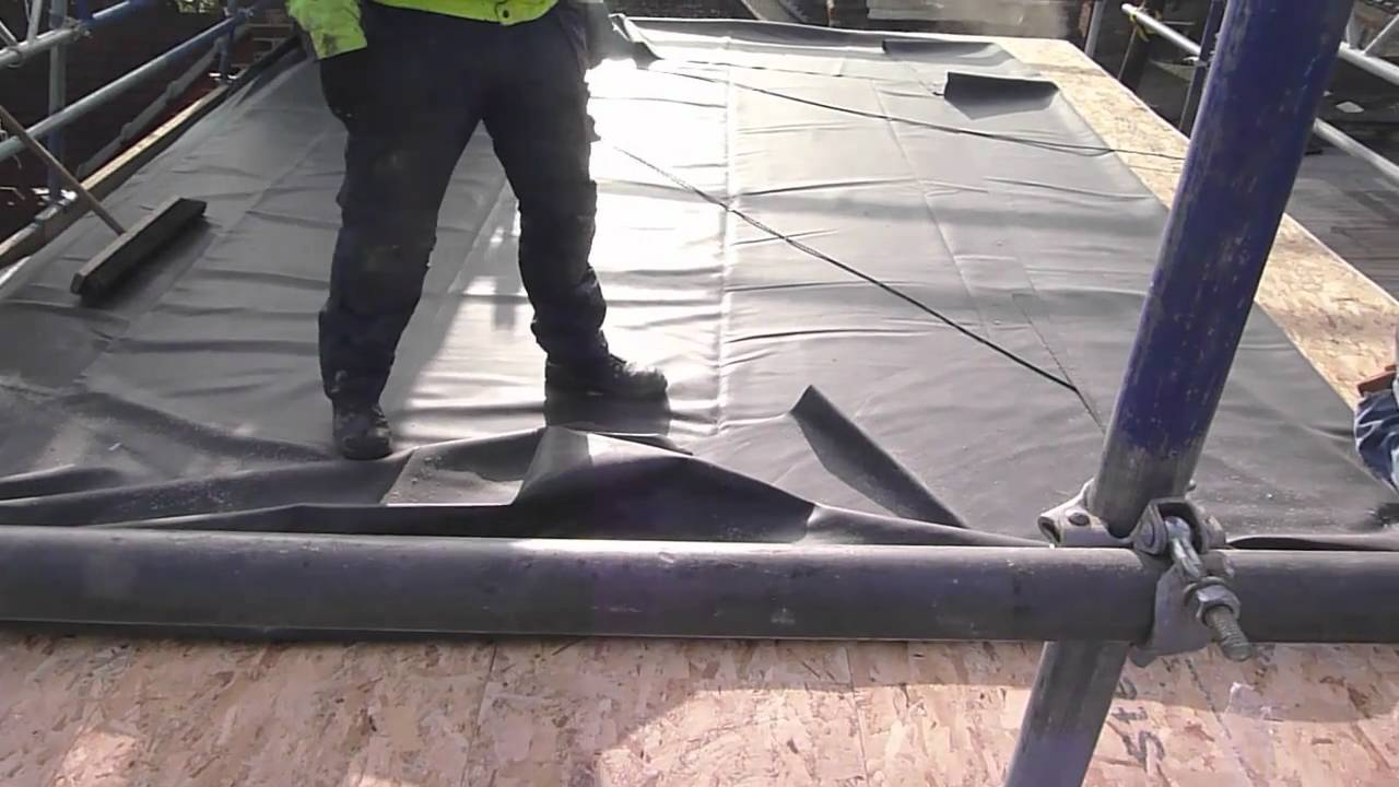 New Epdm Flat Roof Over New Decking Youtube