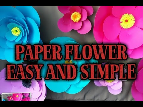 HOW TO MAKE PAPER FLOWERS CUT BY CRICUT || SUMMER BREAK ACTIVITY