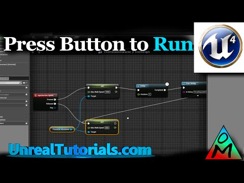 Unreal Engine 4 Tutorial | Press Button To Sprint / Run