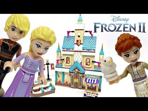 LEGO Frozen 2 Arendelle Castle Village review! 2019 set 41167!