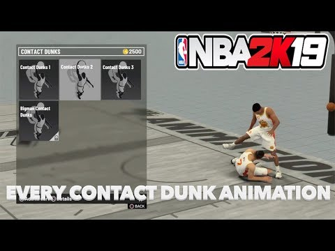 Every Contact Dunk Animation In NBA 2K19