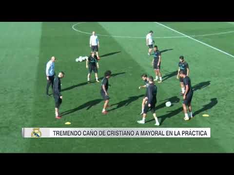 ¡Brutal caño de Cristiano Ronaldo a Borja Mayoral! Amazing skill Cristiano Ronaldo vs Borja Mayoral