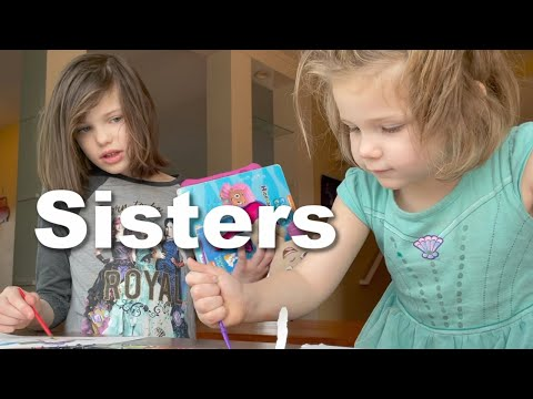 Autism| Sisters Painting Together