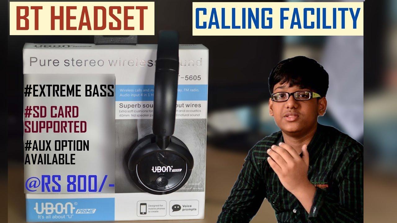 7e545964fef Ubon Prime GBT 5605 bluetooth headset   first look   hindi - YouTube