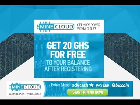 MineCloud - Nueva Bitcoin Mining - Bono De 20 GHS (3 USD) -