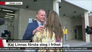 Kaj Linna släpps fri efter 13 år i fängelse - Nyheterna (TV4)