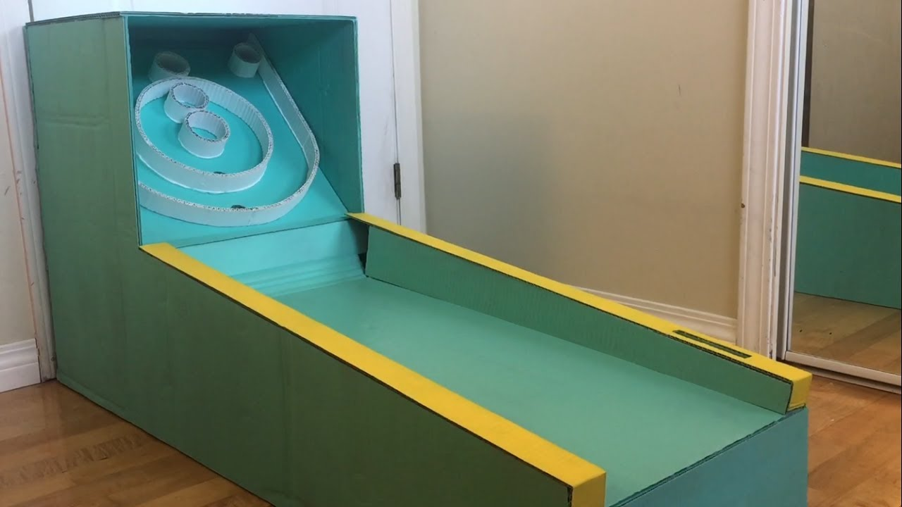DIY Cardboard Skee-Ball Machine - YouTube on baseball golf, hockey golf, plinko golf,