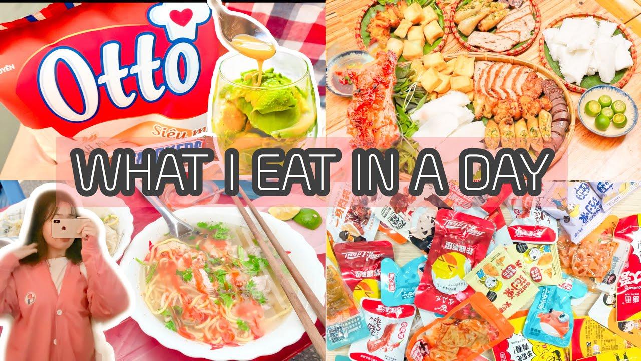 MỘT NGÀY MÌNH ĂN NHỮNG GÌ|WHAT I EAT IN A DAY😅