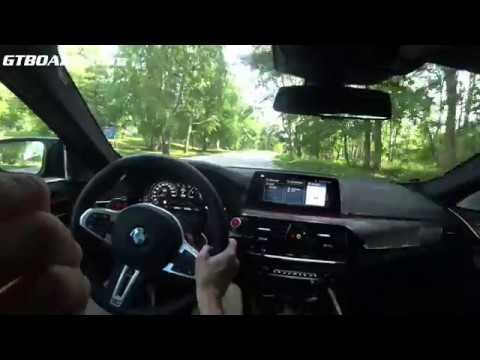 POV BMW M5 Competition Slow Country Road Driving FOLDED Seat For SOUND [4k]