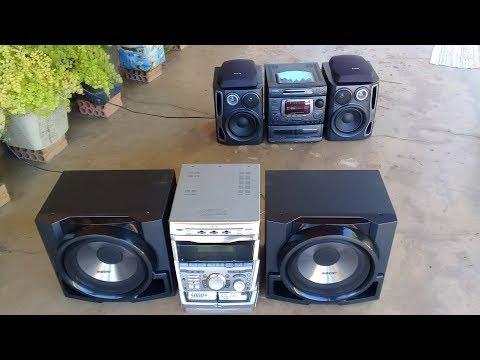 Aiwa Nsx-999 Mk2 e Sony Grx 9900 tocando em lugar aberto