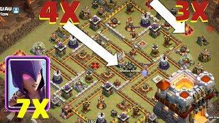 Ketemu Jalannya Pasti Rata, 7witch Untuk 3Star TH 11 Max, Clash of clans INDONESIA