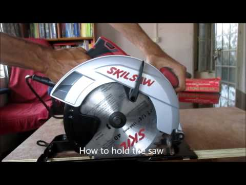 How to use Circular saw (Basics and safety) with Skil saw 5301