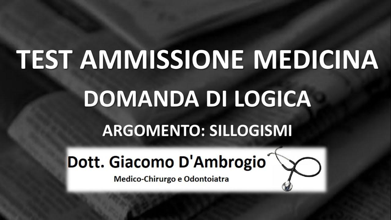 QUESITO COMMENTATO LOGICA SILLOGISMI (VIDEO)