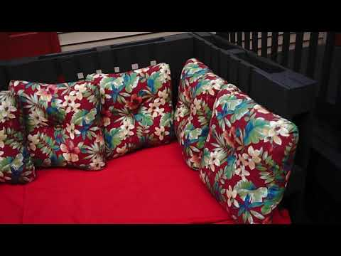 pallet sofa sectional with table Pt3 how to DIY