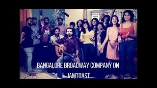 Amazing 25 member band Bangalore Broadway Company on #JamToast