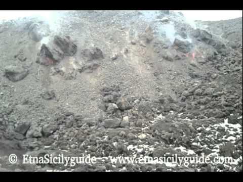 Etna   Fronte lavico Valle del Bove 27 Gennaio 2014