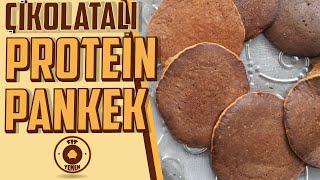 PROTEİN Pankek Tarifi - 46 gram protein - Çikolatalı ve Muzlu - FitYemek