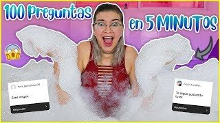 100 PREGUNTAS en 5 MINUTOS en un JACUZZI DE ESPUMA!! - Lulu99
