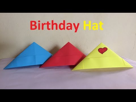 How to make a paper birthday hat | Party Hat | Origami Easy and Beautiful Birthday Hat Crafts
