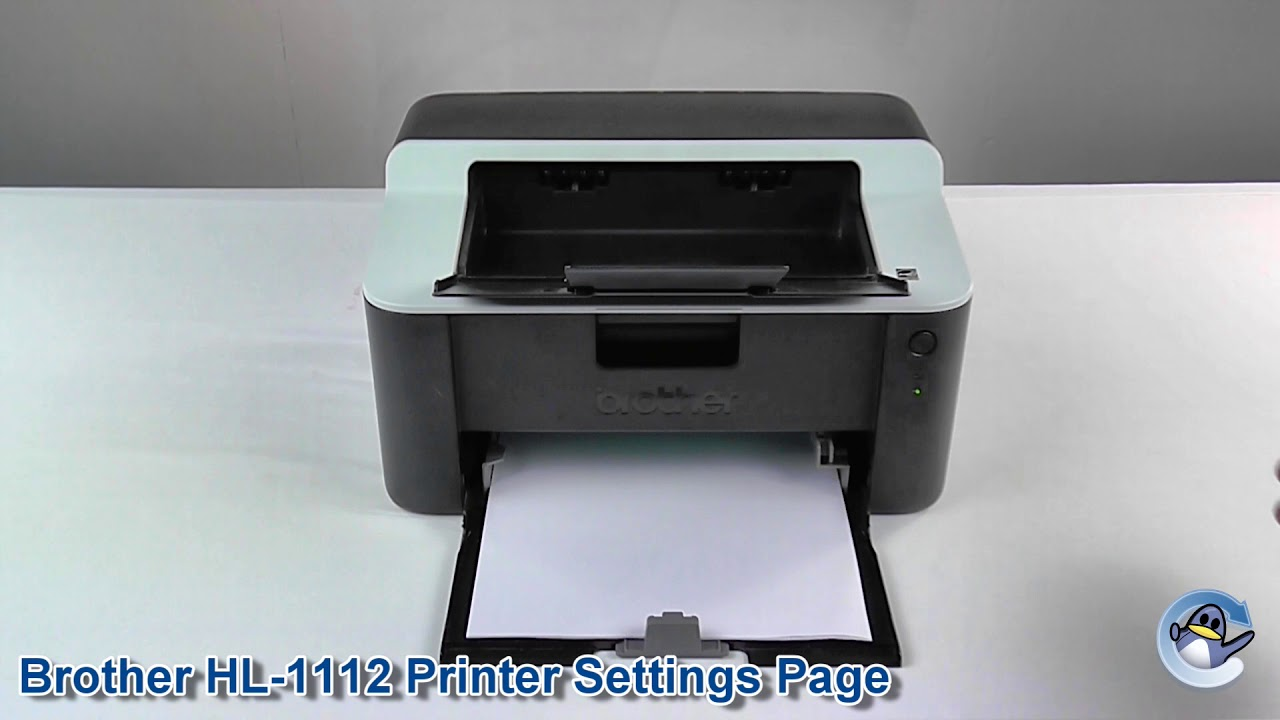 How To Print A Printer Settings Page On A Brother Hl 1112 Youtube