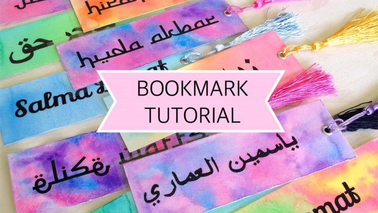 Watercolor bookmarks - Diy Watercolour Bookmarks Tutorial Adding Vinyl