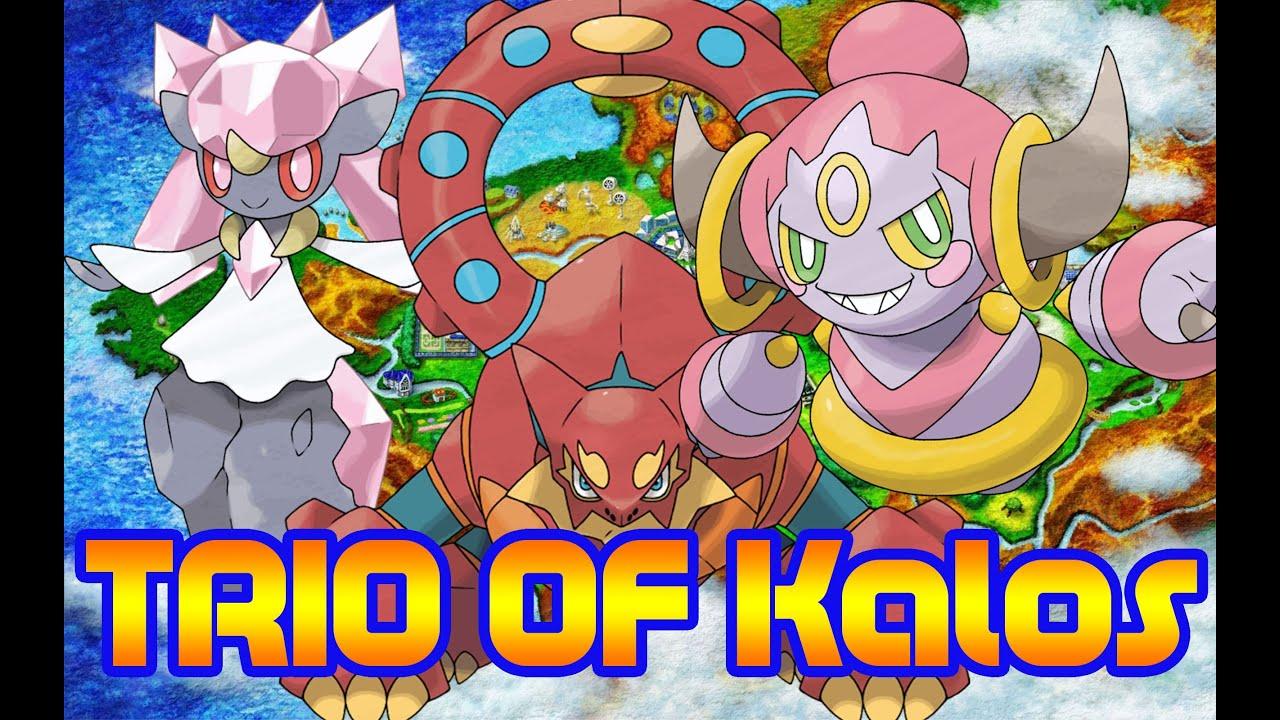 Pokemon x and y legendary trio of kalos youtube - Pokemon x pokemon rare ...