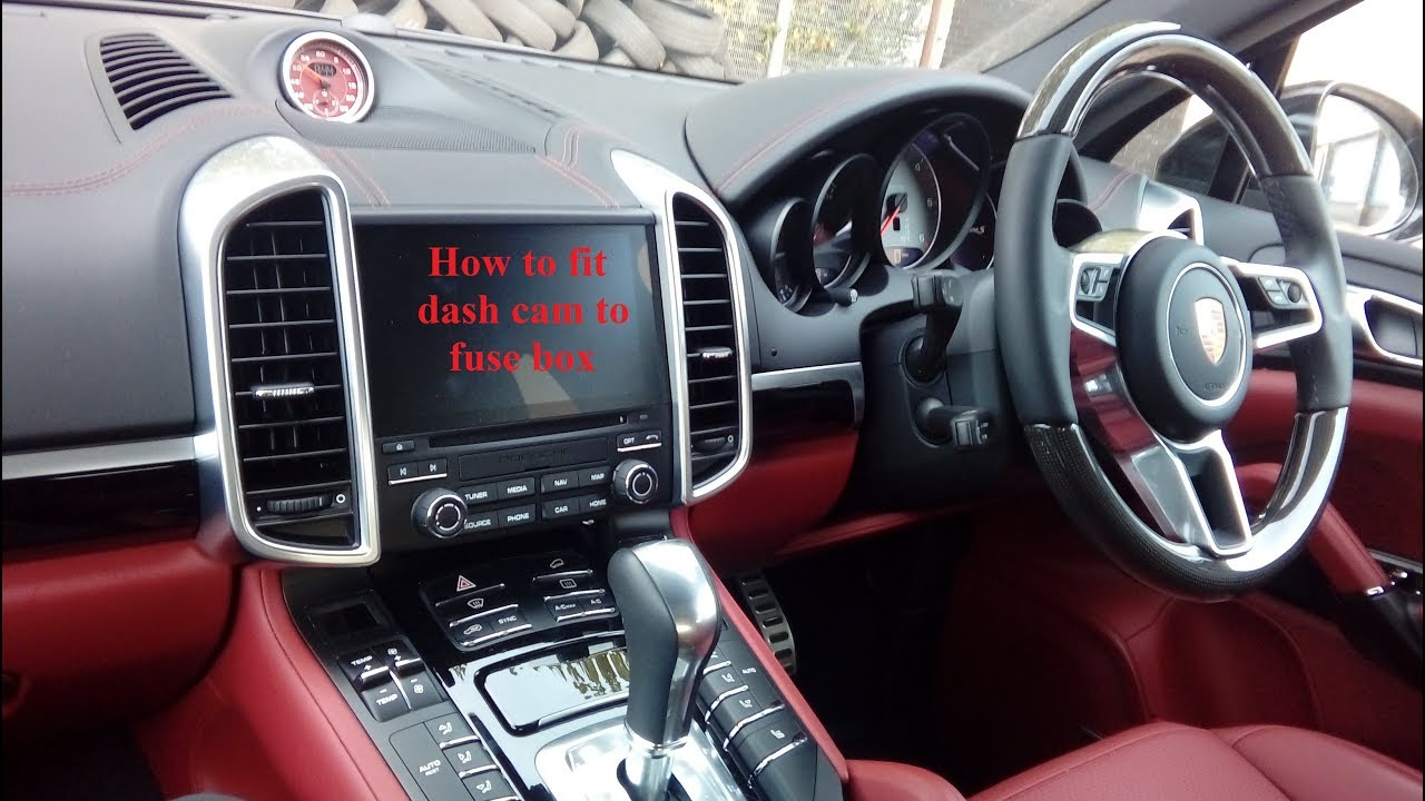 porsche cayenne 2011 2018 how to fit dash cam to fuse box simple step by step  [ 1280 x 720 Pixel ]