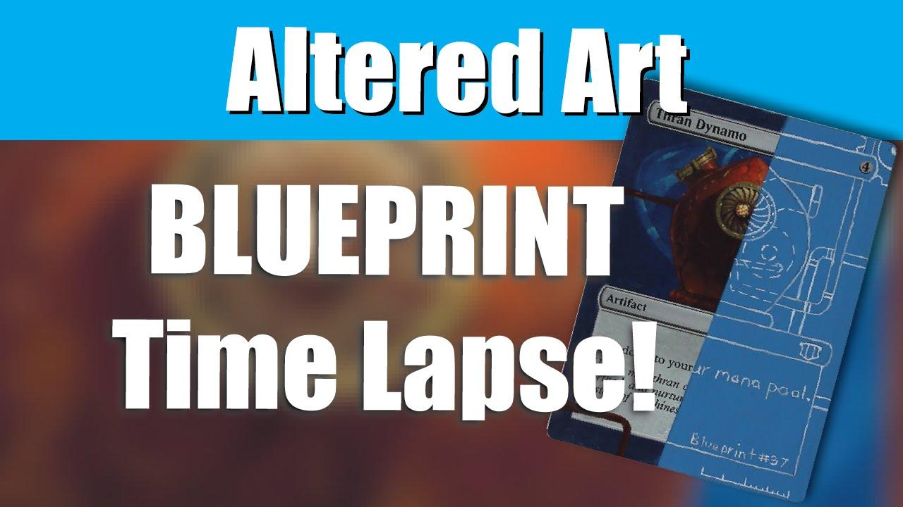Altered art blueprint style youtube malvernweather Gallery