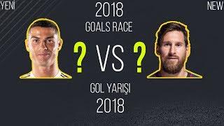 Lionel Messi vs Cristiano Ronaldo   GOL YARIŞI 2018   Tüm Goller • HD