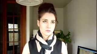 Как завязать платок, шафр  или палантин
