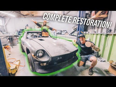 Rebuilding & Heavily Modifying a Datsun 280z | Ep. 3 Paint Prep