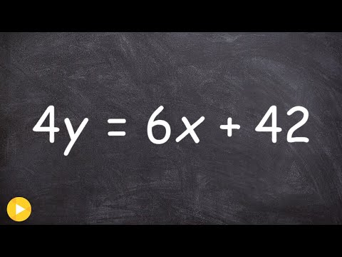 How To Put A Linear Equation Into Standard Form And Then Find The X