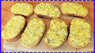 Остренькие бутерброды с вареными яйцами и плавленным сыром