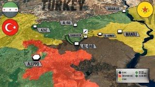 18 ноября 2016 года. Военная обстановка в Сирии. Противостояние YPG и Турции. Русский перевод.