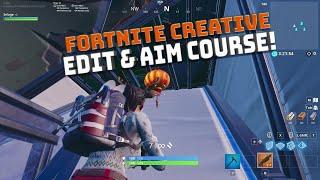 Creative Mode Shotgun Aim and Edit Courses! - Fortnite Battle Royale!