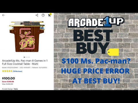 Arcade1up: Best Buy Glitch Causes $100 Ms.  Pac-man Cocktail Pricing from PsykoGamer