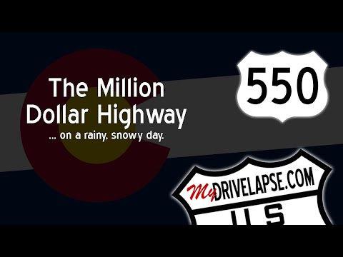 A Snowy Drive over Million Dollar Highway: Red Mountain Pass, Ouray to Silverton