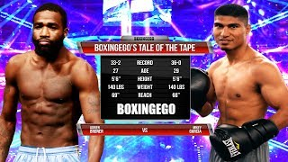 ADRIEN BRONER VS MIKEY GARCIA Tale Of The Tape (BOXINGEGO FIRST LOOK)