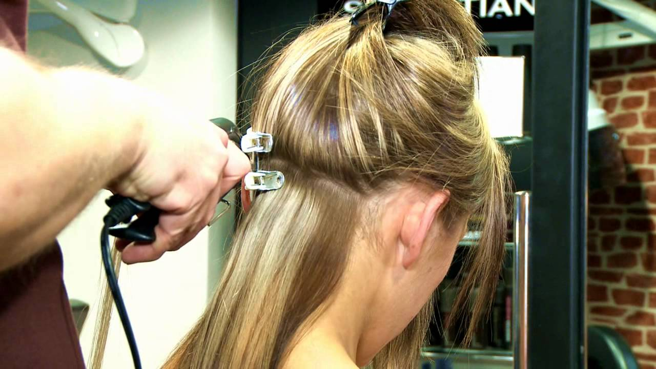 Apply Pre Bonded Glue In Hair Extensions Youtube