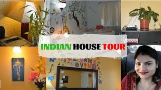 Married PhD Student's House Tour In USA | Indian NRI Home Tour (Rented Apartment) | Real Homemaking
