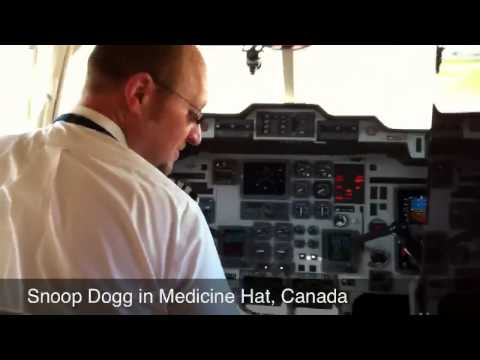 Snoop Dogg Private Jet in Medicine Hat, Canada