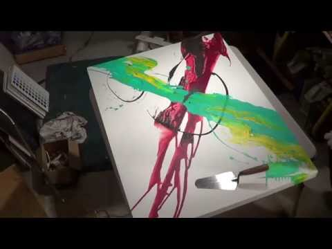 Acrylic Abstract Painting Demo with Michael Pintar