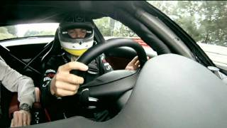 Nico Rosberg drives David Coulthard around the Nordschleife in a SLS AMG