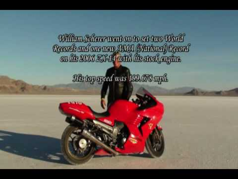 William Scherer's ZX-14 sets new World Speed Records at Bonneville (in class)