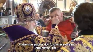 Holy Orthodox Russia - Russian Soldiers receiving Holy Communion.